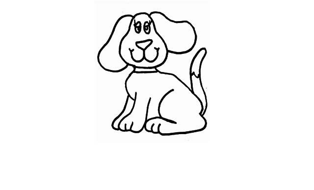 dibujos para dibujar faciles de perros