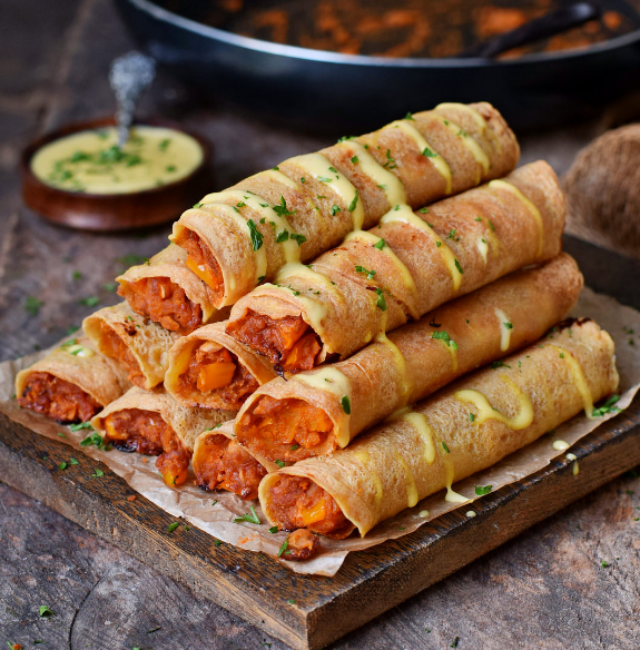 Buffalo Chickpea Taquitos