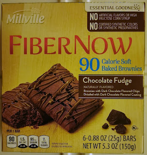 Box of Millville Fiber Now 90-Calorie Fudge Brownies