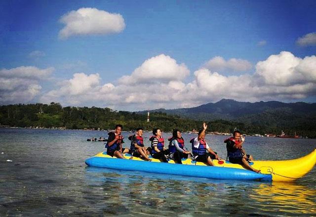 fasilitas di Pulau Tangkil Lampung