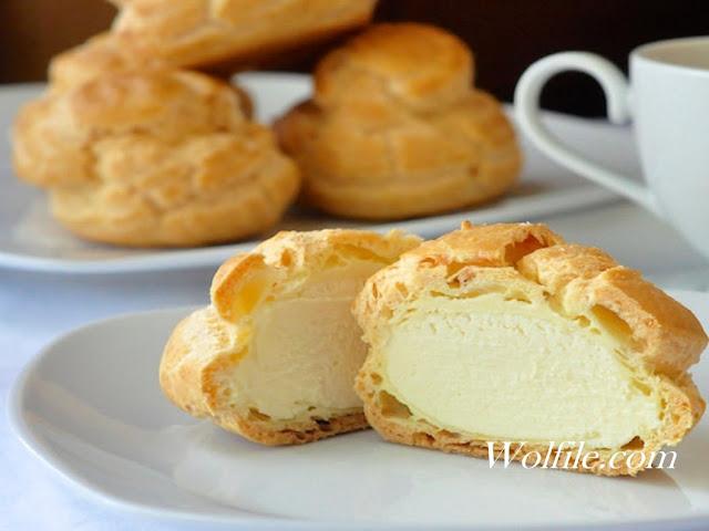 Frozen White Chocolate Cream Puffs Recipe #Cake #Snack