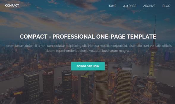 Compact responsive portfolio Blogger template