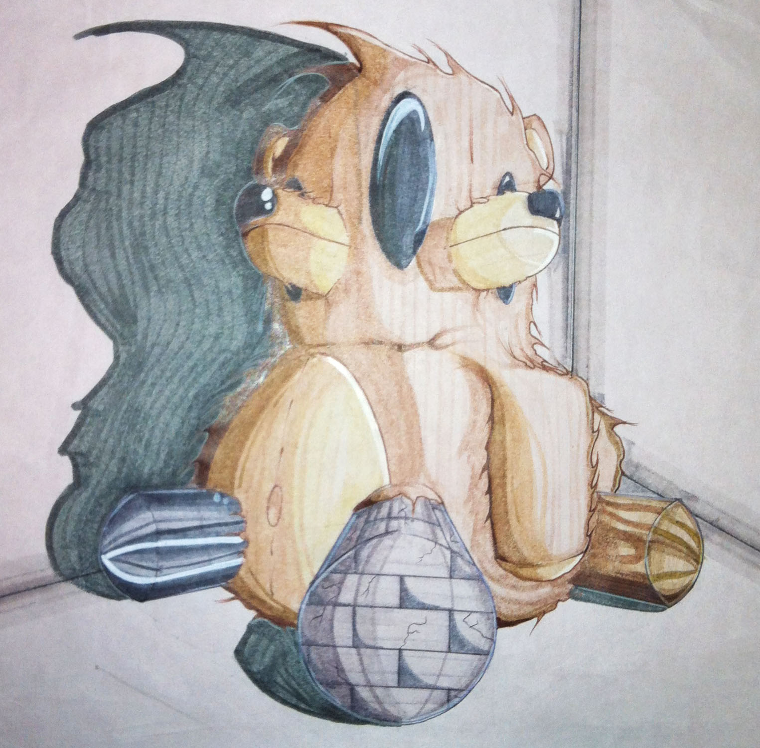 Killer Teddy Bear Drawing