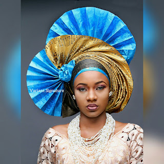 pleated  gele1