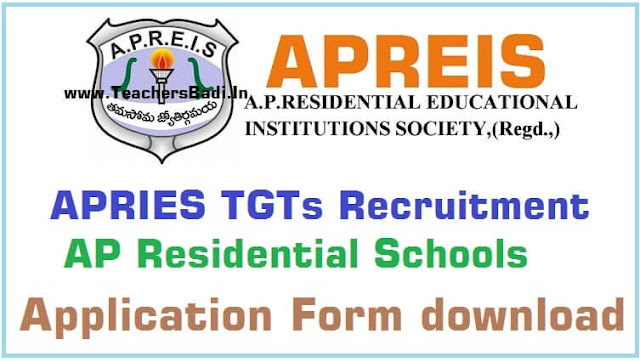 APREIS,TGTs recruitment,AP Residential Schools-application form