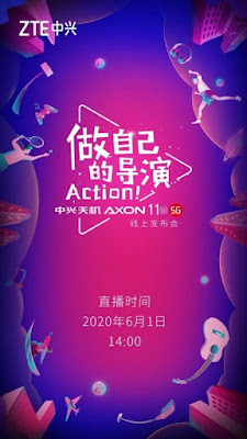 ZTE will officially launch the upcoming Axon 11 SE on June 1