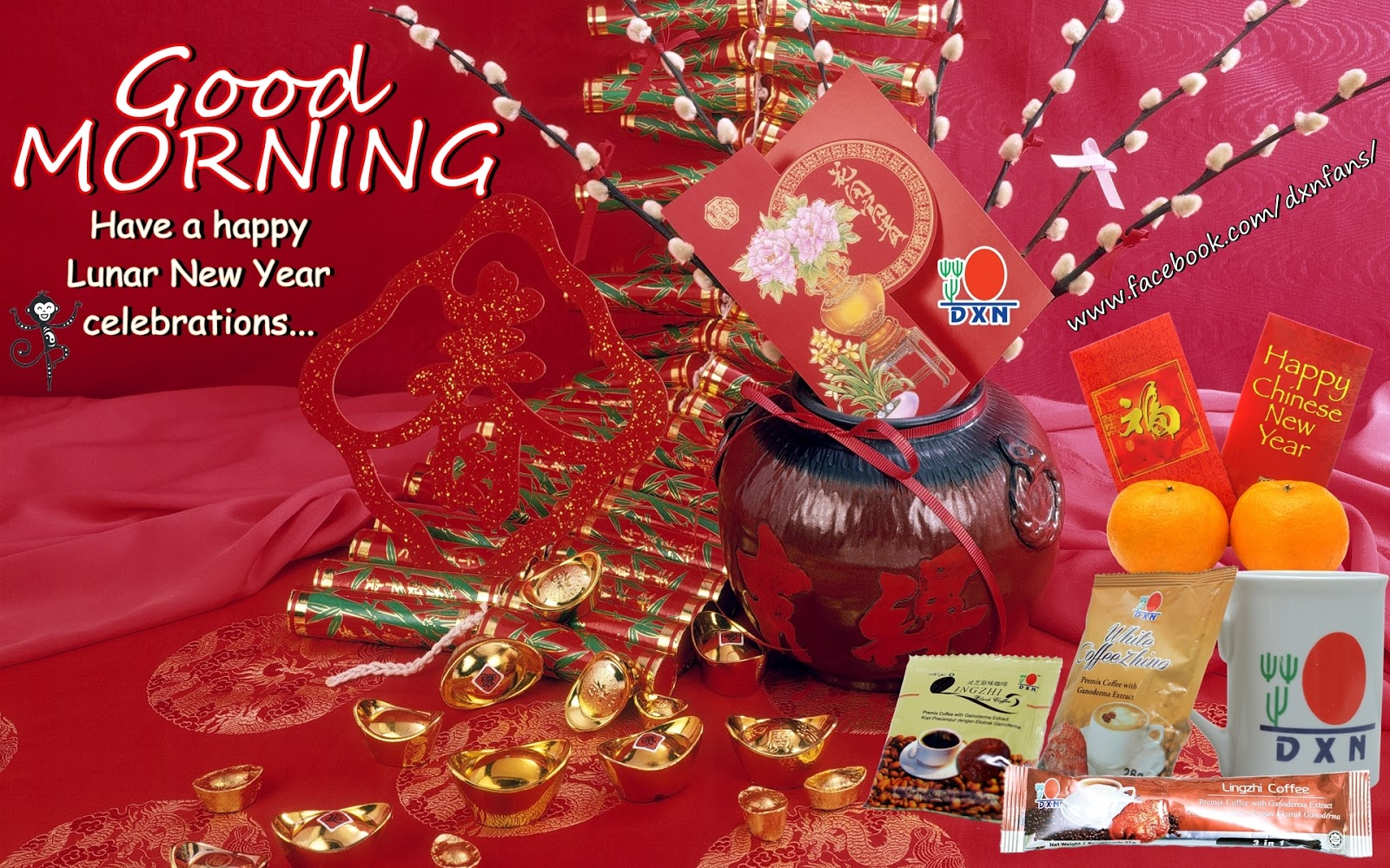 Good Morning Happy Chinese New Year : Welcome to the dxn fans happy chinese new year