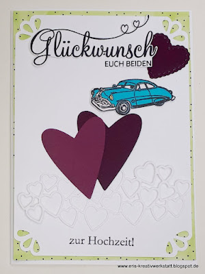 Hochzeitskarte für einen Oldtimer-Liebhaber Stampin' Up! www.eris-kreativwerkstatt.blogspot.de