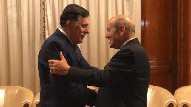 ليبيا: رئيس المجلس الرئاسي يلتقي وزير الخارجية الفرنسي في طرابلس
