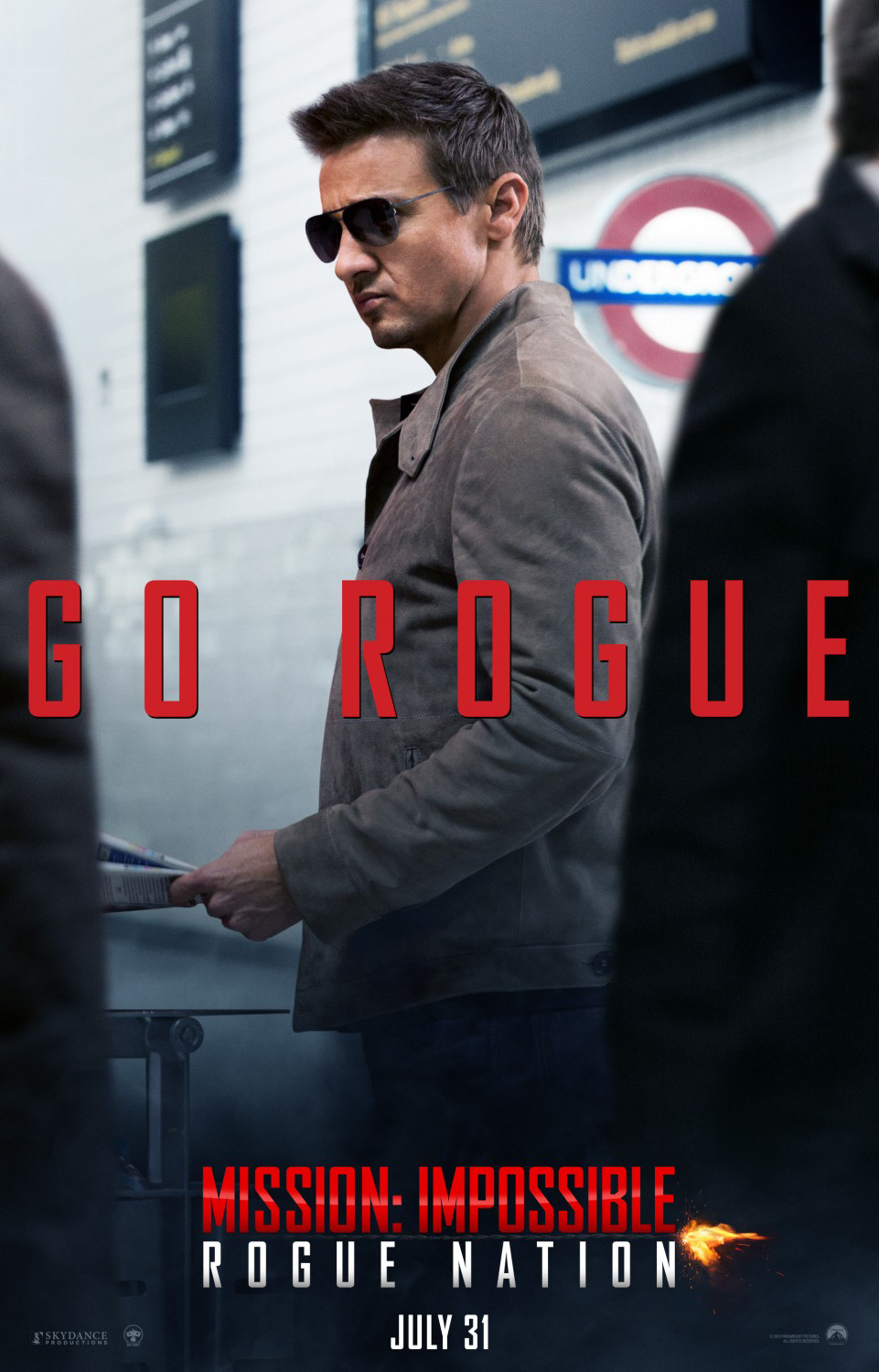 Mission Impossible: Rogue Nation Poster - Jeremy Renner