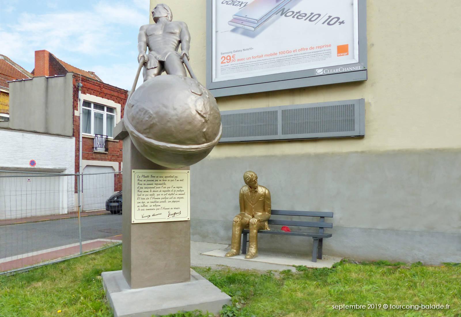 Enzus, L'Atlas moderne et l'homme en Or, Tourcoing.