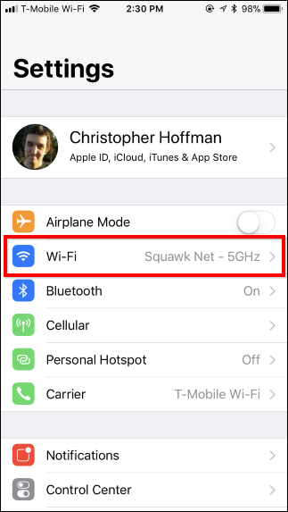 modificare le impostazioni  Wi-Fi sul tuo iPhone o iPad