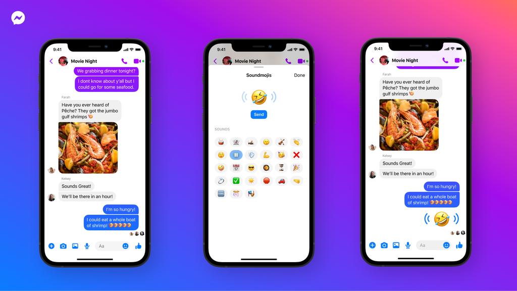 Facebook porta le emoji con i suoni su Messegner