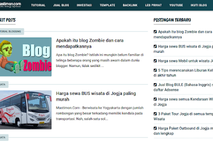 Template Blogger Mastimon dan Masigun
