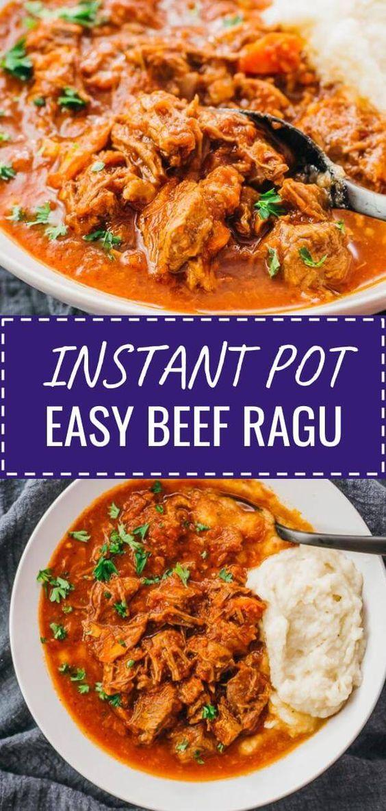 Easy Instant Pot Beef Ragu Recipe