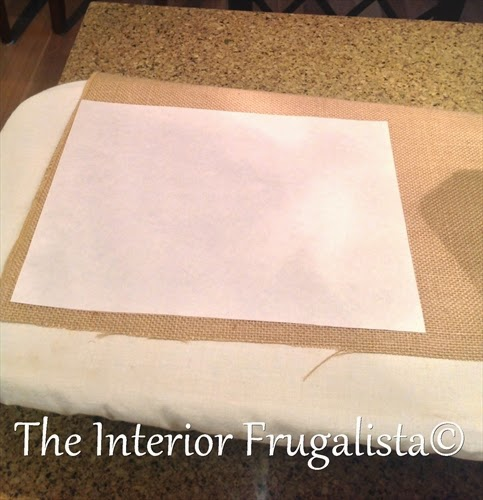 Sizing Freezer paper to iron onto burlap