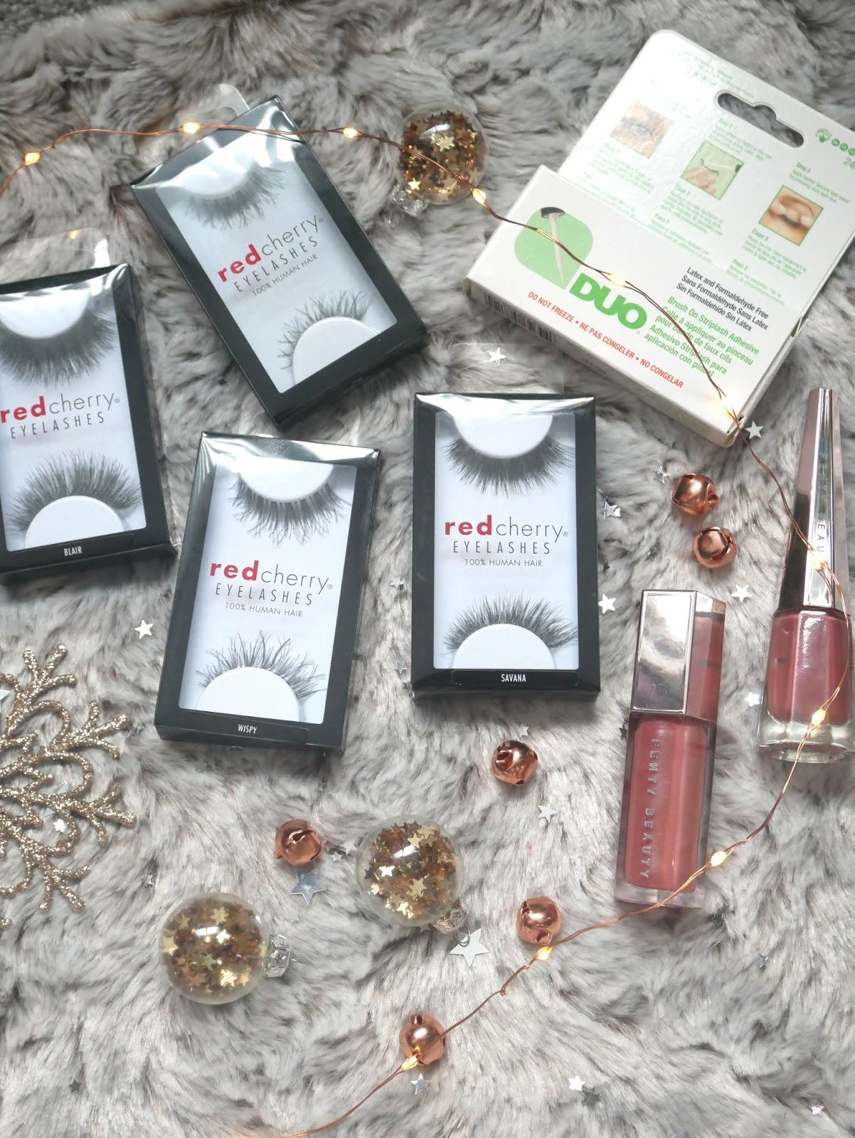 red cherry lashes christmas