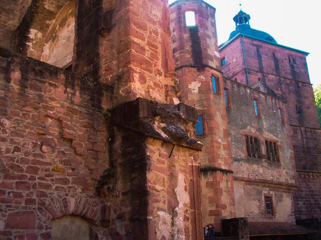 Heidelberg, zamek, ruiny