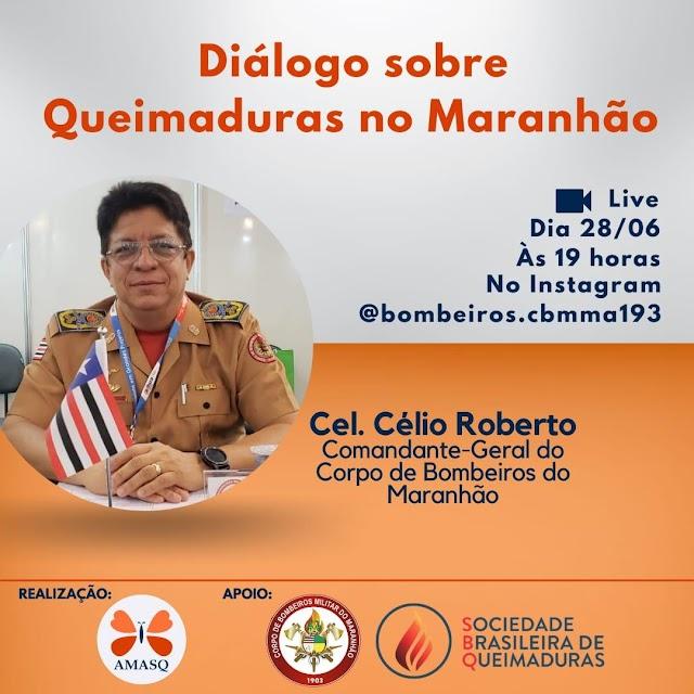 Corpo de Bombeiros do Maranhão realiza nesta segunda live sobre prevenções e tratamento de queimaduras