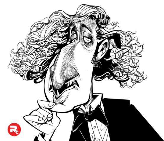 Caricatura de Gene Wilder por Russ Cook