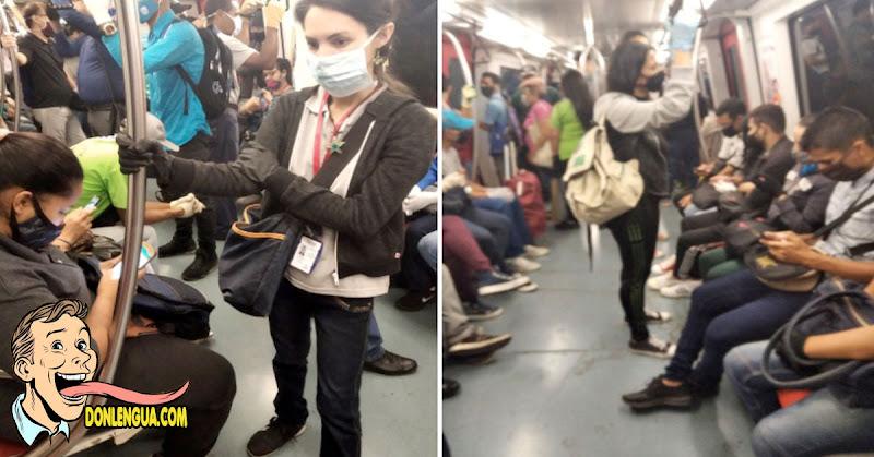 El Virus está de fiesta dentro del Metro de Caracas ABARROTADO