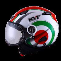 Helm KYT Elsico Seri 1 White Green
