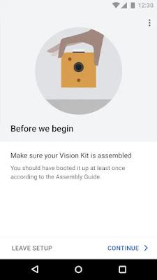 Google AIY Projects interface