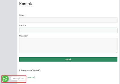 cara membuat tombol whatsapp melayang di blogger