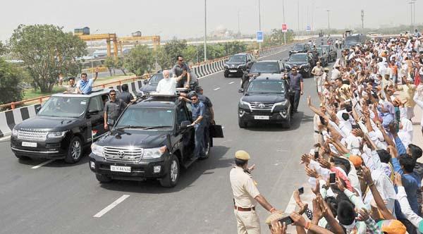 प्रधानमंत्री नरेंद्र मोदी ने ईस्टर्न पेरिफेरल एक्सप्रेसवे के फेज़-1 का शुभारंभ किया