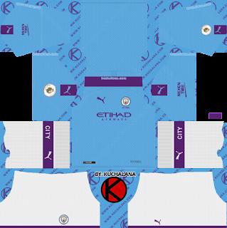 Manchester City 2019/2020 Kit - Dream League Soccer Kits