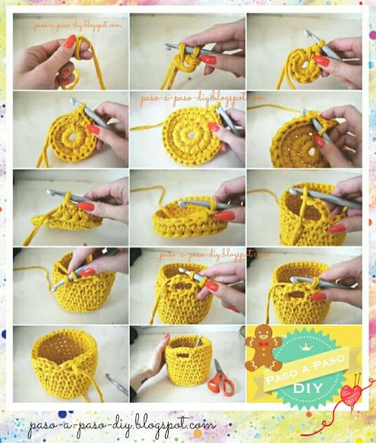 Cómo hacer una canasta tejida