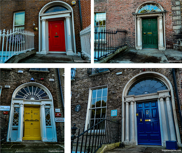 Portas coloridas de Dublin