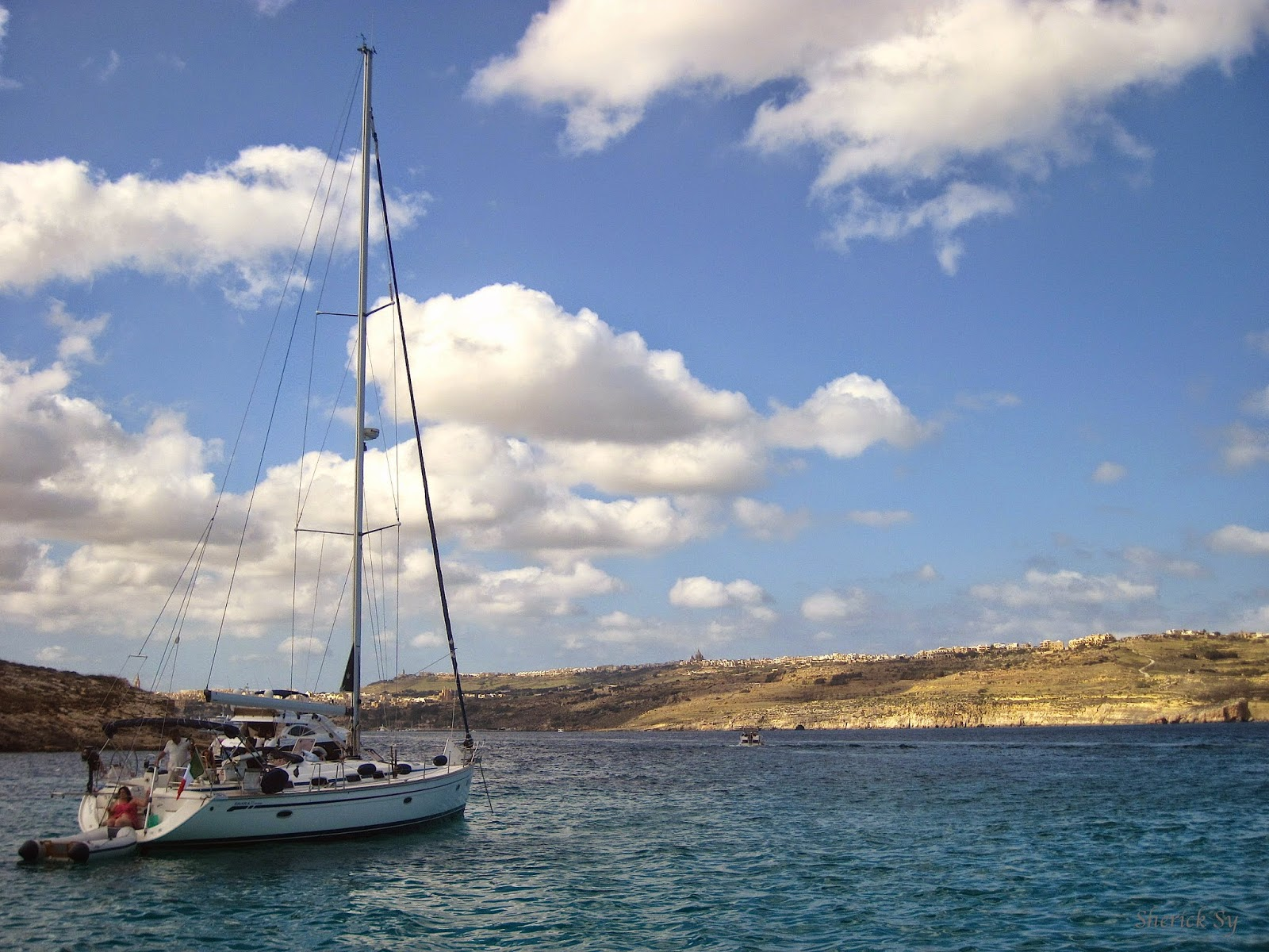 Sailing at the Blue Lagoon, Comino, Malta