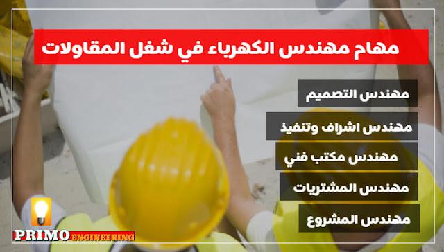1- مهام مهندس الكهرباء في شغل المقاولات (كورس التوزيع الكهربي Electrical Distribution Course) - بريمو هندسة