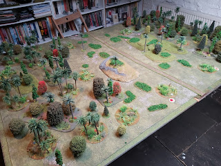 The table set up ready for scenario one of the Malaya campaign