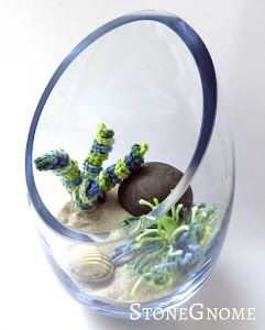 Crocheted Seagrass in a Mini Bowl