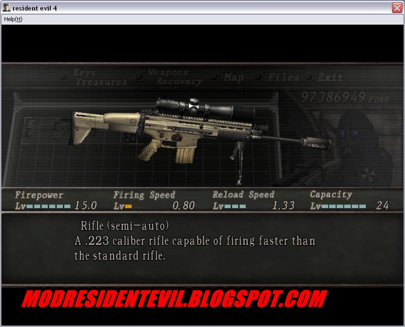 Evil 4 Weapon Mods Resident