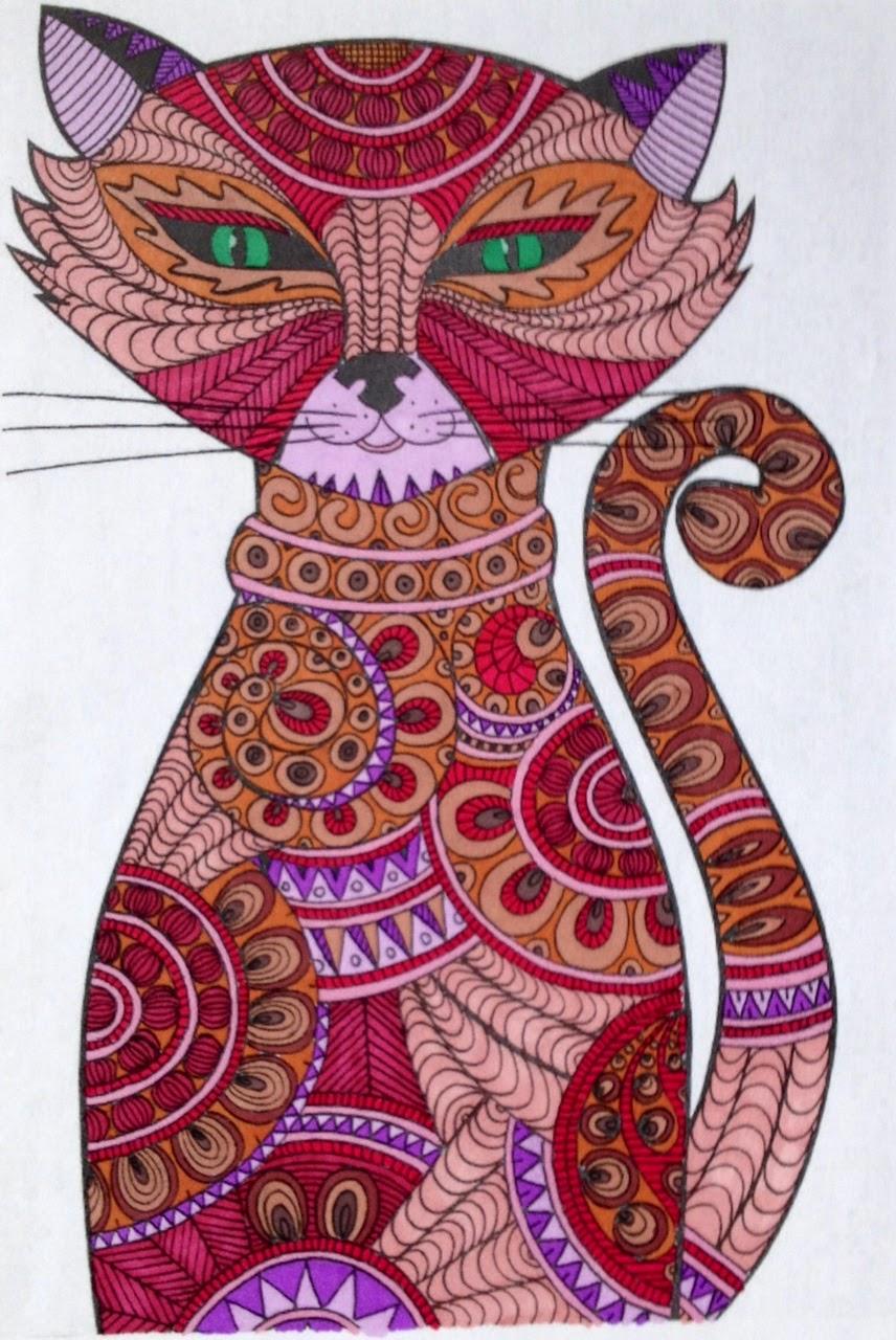image de chat pour coloriage