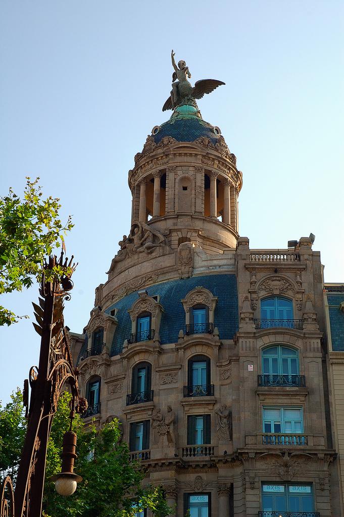 La Unión y el Fénix Building on Passeig de Gracia, Barcelona, Spain