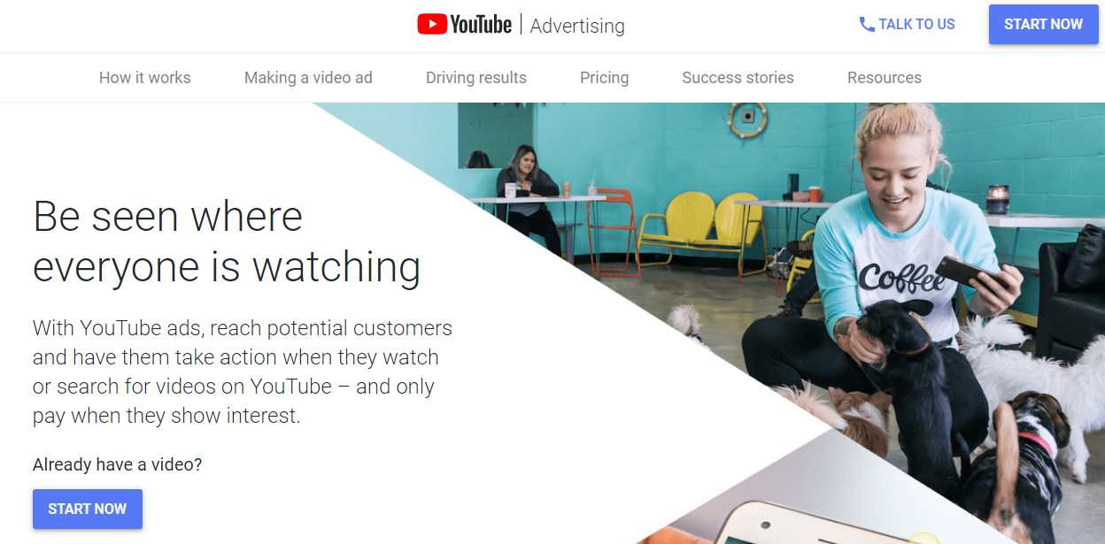 Etapa de promociones de YouTube