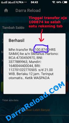 transfer tiket deposit pulsa
