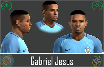 Pes 13 Gabriel Jesus face by AR Design