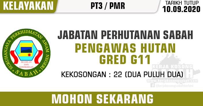 Jawatan Kosong Kerajaan Negeri Sabah 2020 Pengawas Hutan Gred G11 Jabatan Perhutanan Sabah Jawatan Kosong Terkini Negeri Sabah
