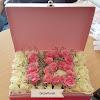 Flowerbox Mawar Pink dan Putih
