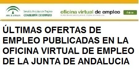 Últimas ofertas Oficina Virtual de Empleo Junta de Andalucía, Jaén