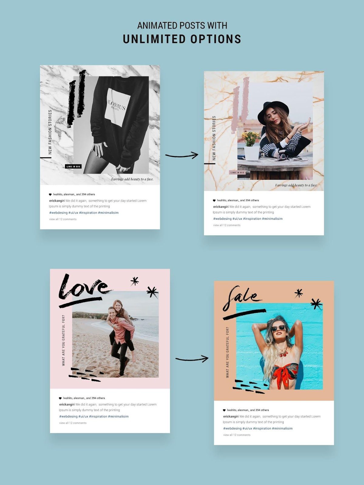 plantillas bonitas para feed instagram stories canva editables