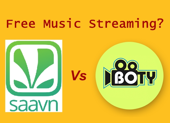 Free Music Streaming - Saavn vs BOTY Music - Which is Best?