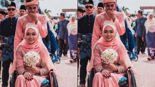 Pernikahan Gadis Tak Sempurna Pernah Viral, Dinikahi Pria Kenal Lewat Game Online, 'Saya ini Lumpuh'