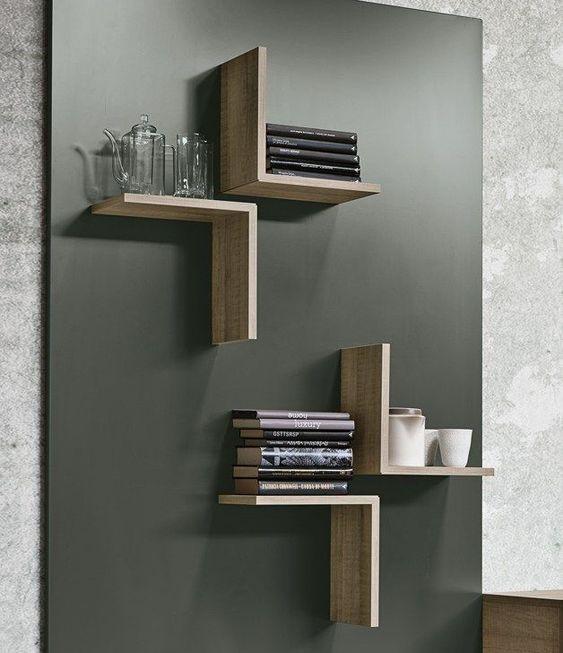 Modern Wooden Wall Shelves Design Ideas For Living Room 2019
