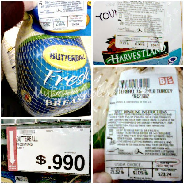 Butterball and Harvestland Turkeys at BJ's Wholesale Club